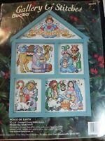 "Vtg Cross Stitch Kit  ""Gallery of Stitches - Peace on Earth"" Nativity Bucilla"