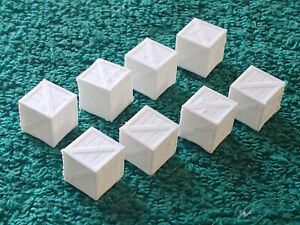 O scale 3D printed Small white cargo crates