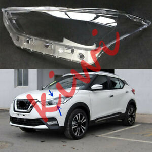 Left Side Headlight Cover Clear PC + Glue replace Fit For Nissan Kicks 2018-2019