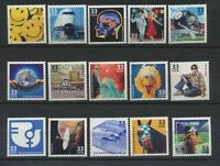 3189 a-o 1970's Celebrate The Century 15 Vals Mint NH Singles Cplt Retail $24.50