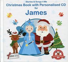 CHRISTMAS BOOK WITH PERSONALISED CD FOR JAMES - STORIES & SONGS 4 ME