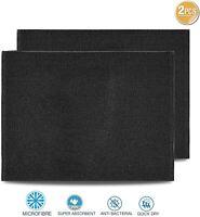 Towelogy® 2pcs Microfiber Dish Drying Mat Kitchen Sink Drainer Super Absorbent