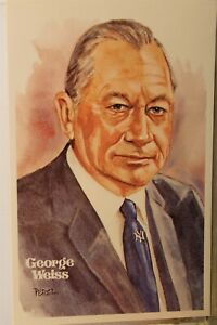 George Weiss National Baseball Hall of Fame Yankees Executive Postcard Old View