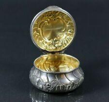 Pillendose 950/1000 silber innen vergoldet  solid silver box France