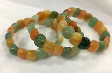 "Natural 10X14MM Multicolor jasper gemstone Stretch Bracelet 7.5"" AAA"