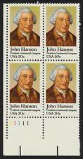 #1941 20c John Hanson, Plate Block [11111 LL] Mint **ANY 4=FREE SHIPPING**