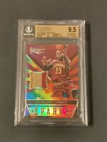 2014 Panini Select Sparks Jersey LeBron James Tie Dye 2-COLOR PATCH /25 BGS 9.5