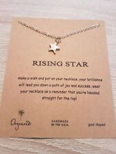 Necklace Star Pendant Chain Jewelry Bronze Rose Gold Dogeared Gift Wish Card