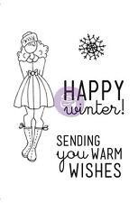Prima Julie Nutting Warm Wishes Doll Stamp Set Scrapbook 910501