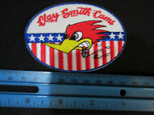 Woody Woodpecker Clay Smith Cams US Flagge Patch Rockabilly Nose Art Aufnäher