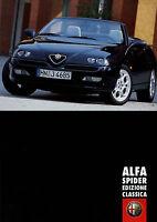 Alfa Romeo Spider Edizione Classica Prospekt 2001 1/01 brochure Autoprospekt Pkw