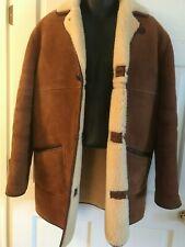 VTG  Rancher Sheepskin Shearling Suede Marlboro Man Men's Jacket Coat 42