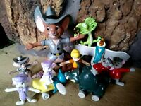 RESCUERS DOWN UNDER,APPLAUSE,JUST TOYS PVC VINTAGE DISNEY 10pc. FIGURINE SET-NEW