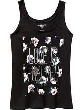 NWT OLD NAVY WOMEN'S FLORAL-GRAPHIC SLUB-KNIT COTTON NAVY TANK, TOP, LARGE SIZE