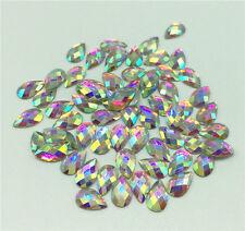 Nail Art Fashion Flatbck Crystal AB ResinJewelry Round Rhinestone 400Pc  4x6mm