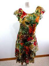 FIGURE LIBRE WOMENS MULTI-COLOR FLORAL CHIFFON DRESS SIZE 38 (8)