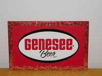 """VINTAGE BAR ROCH RED 15 1/2"""" X 10"""" GENESEE CREAM ALE PLASTIC BEER WALL AD SIGN"""