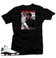 Shirt to Match Jordan 13 He Got Game Sneakers.Jesus Shuttlesworth Black Tee