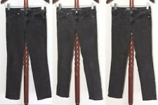 Lot of 3 Mossimo sz 8 R Mid Rise Straight Super Stretch Black Denim Jeans
