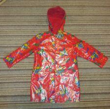 Vtg Retro Children's Coat Jacket Red Shower proof age 4 Teddy Print Boys Girls
