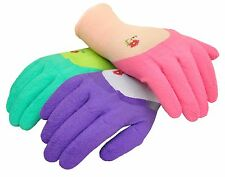 G & F 2030 Women Garden Gloves MicroFoam Nylon Latex Coating Texture Grip 3 Pair