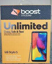 Boost Mobile LG Stylo 5 32GB Prepaid Smartphone - Brand New Sealed