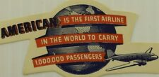 1940's American Airlines Poster Stamp Luggage Label