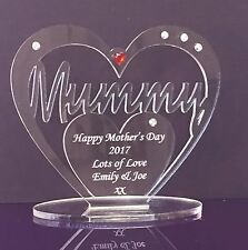 Personalised Heart for Mummy, Happy Mother's Day, Birthday, Gift/Ornament