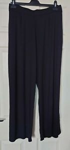 Ladies Black Loose Fitting Lightweight Bottoms Plus Size 24 Inside Leg 29 By...