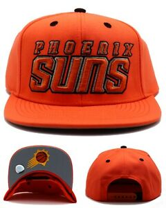 Phoenix Suns NBA by Adidas PHX Team Preferred Orange Black Snapback Era Hat Cap