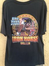 Vintage World Famous Iron Horse Saloon Bike Week 2000 Pocket T-shirt Size XL