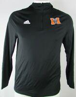 Mercer University Bears NCAA Men's Black Adidas 1/4 Zip Athletic Hoodie MSRP $65