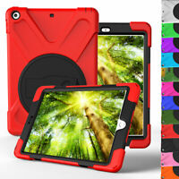 For Apple iPad 9.7 6th 5th Generation Rugged Stand Hard Case + Screen Protector