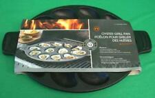 OUTSET OYSTER GRILL PAN CAST IRON COOKWARE HEAVY DUTY HALF SHELL NEW