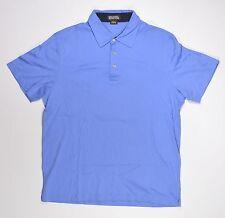 Michael Kors POLO Mens Cotton Short Sleeve Shirt Large Tidal Blue NEW