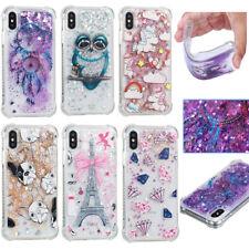 Liquid Glitzer Handy Hülle Bling Treibsand Silikon Schutzhüll Für Samsung iPhone