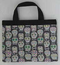 Muerto crossbones! Mini tote handbag skull skeleton goth rockabilly eBook holder