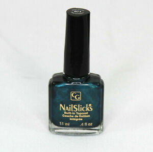 CG Covergirl Nailslicks Nail Polish Mystic Peacock .4 Fl Oz Built In Topcoat