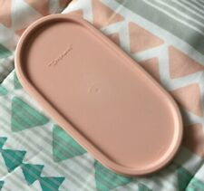 """Vtg Pink Tupperware Modular Mates Replacement Lid Seal 1616-23 Oval 7"""" x 3"""""""