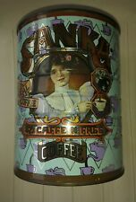 Sanka Two Pound Tin Coffee Can - General Foods Corp.  1981 Shabby Chic Decor