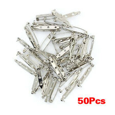 Approx.50pcs Brooch Back Safety Catch Bar Pins 32mm SH H2i5 K8v2