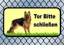 Tor Bitte schließen Close The Gate sign German Shepherd Deutscher Schäferhund