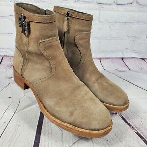 Tory Burch Women's Size 9.5 Eloise Suede Logo Boots
