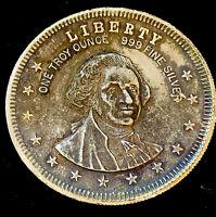 1974 Washington 1 oz .999 Fine Round • God Shed His Grace on Thee