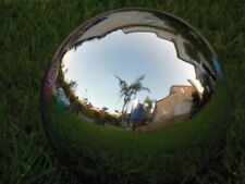"Silver 10"" Glass Gazing Ball Patio, Yard, Garden Decor"