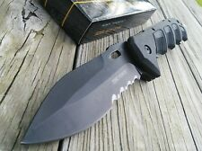 "9"" TAC FORCE SPRING ASSIST FOLDING KNIFE Black Serrated Blade Tactical NEW!"