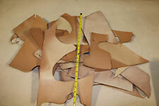 5 LBS SCRAP LEATHER 7-10oz Assorted Sizes Natural Vegetable Tanned