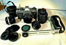 Pentax K1000 35mm SLR Camera Kit w/ 50mm Lens, 35MM  Yashicor, 3x & 2x Lens