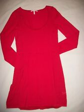 Womens Victorias Secret Knit Dress Red Detachable Lining Size Medium