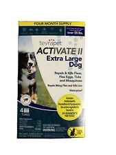 TevraPet Activate Ii Flea and Tick, Extra Large Dogs over 55 lbs (Water Proof)